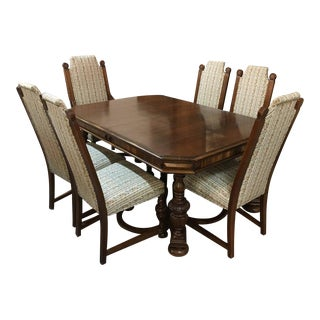 Antique Jacobean Wooden Dining Set