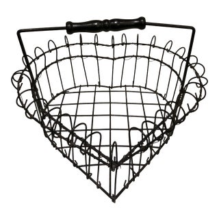 Wire Heart Shape Egg Basket For Sale
