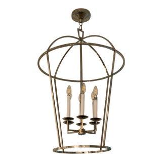 E. F. Chapman Darlana Round Lantern in Polished Nickel For Sale