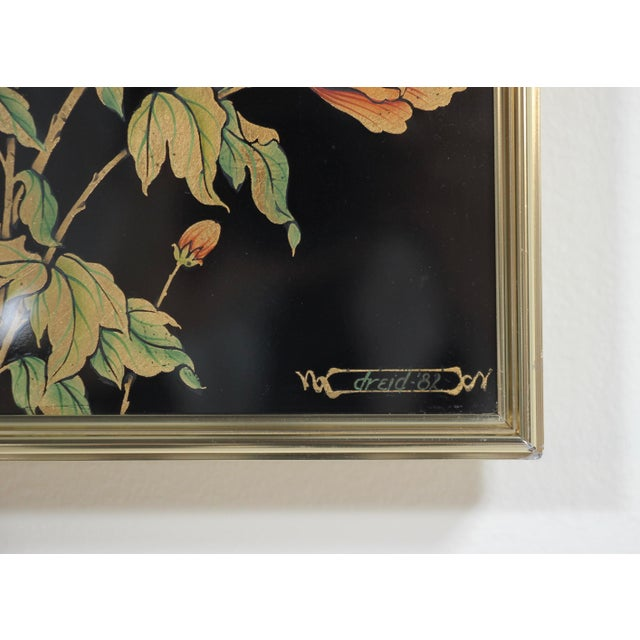 1980s Vintage LaBarge Reverse Painted Mirror For Sale In Los Angeles - Image 6 of 8