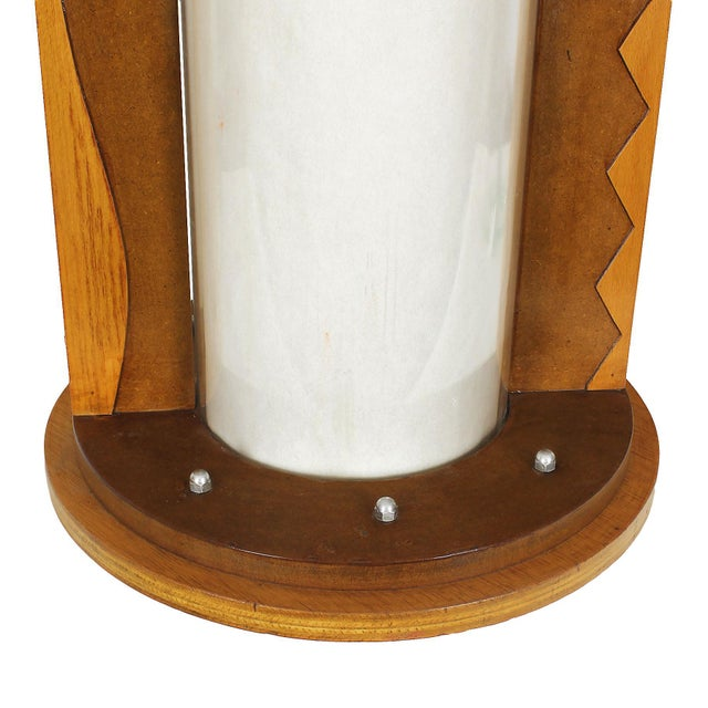 Modern 1980 Table Lamp, Mdf, Beech and Pine Woods, Plexiglass and Parchment - Spain For Sale - Image 3 of 9