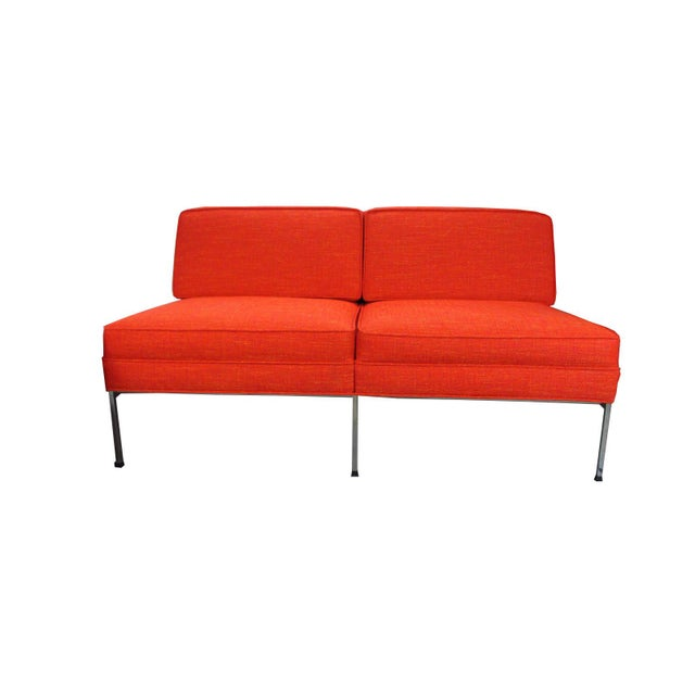 Mid-Century Modern Mid-Century Modern Robert John Company Two Piece Chrome Sectional with Attached Side Table For Sale - Image 3 of 11