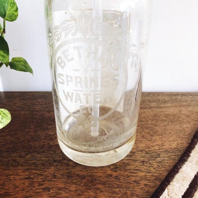 1940s Vintage Glass Seltzer Bottle For Sale - Image 5 of 6