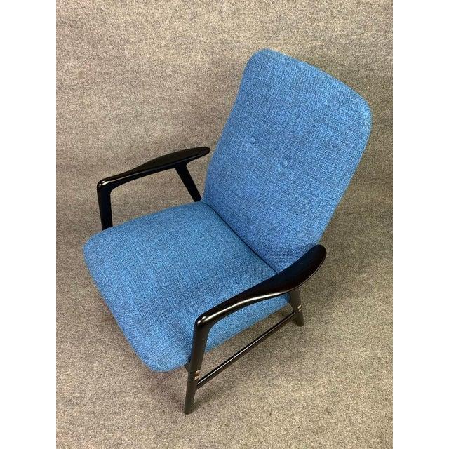 Blue Mid Century Vintage Alf Svensson for Dux Scandinavian Lounge Chair For Sale - Image 8 of 11