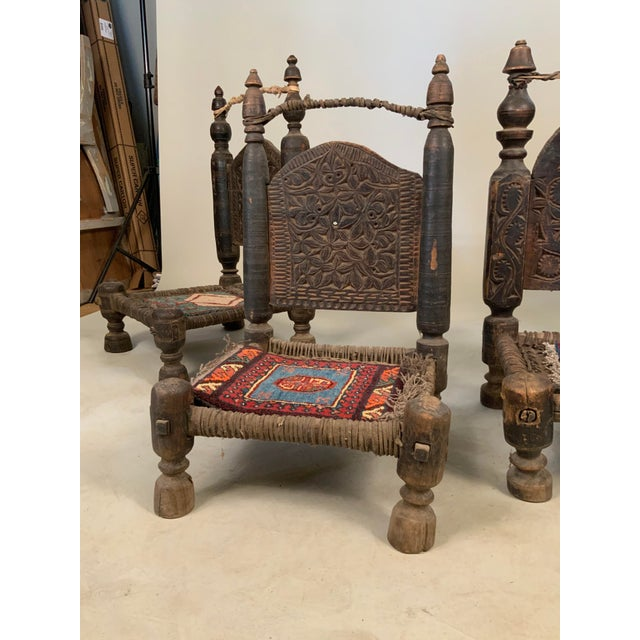 Rustic 19th Century Tribal Bedouin Chairs - Set of 4 For Sale - Image 3 of 12