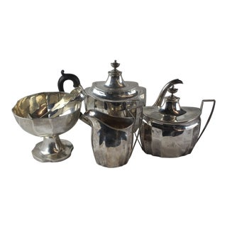 Late 1700s Federal Tea Set of 5 For Sale