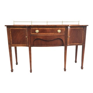Pennsylvania House Hepplewhite Banded Inlaid Mahogany Sideboard For Sale