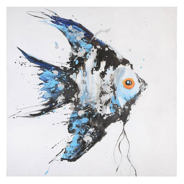 Acrylic Angel Fish Painting - Image 1 of 2