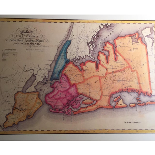 Americana Historic Maps Views of New York Coffee Table Book For Sale - Image 3 of 8