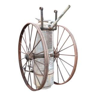 Antique Industrial Firefighter Extinguisher
