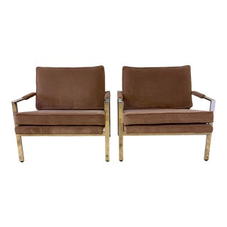 Milo Baughman Mid-Century Lounge Chairs - a Pair For Sale