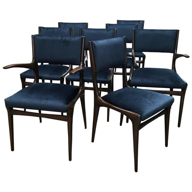 Fabric Carlo de Carli Chairs Set of Eight Including Two Chairs with Armrest 1951 For Sale - Image 7 of 7