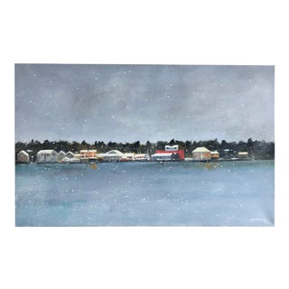 """Padanaram Lasts"" Contemporary Nautical Seascape Oil Painting by Frank McCoy For Sale"