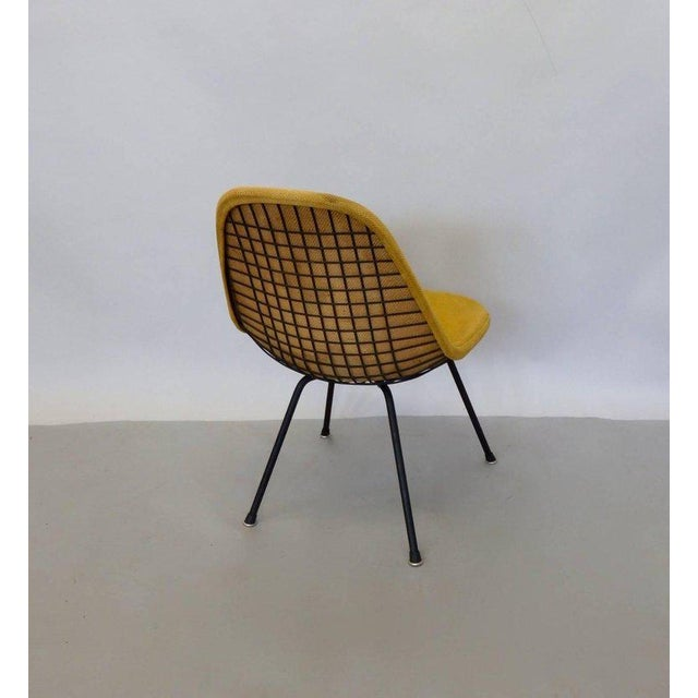 Mid-Century Modern Eames Herman Miller Dkr Chair on Early Production Low X-Base For Sale - Image 3 of 6