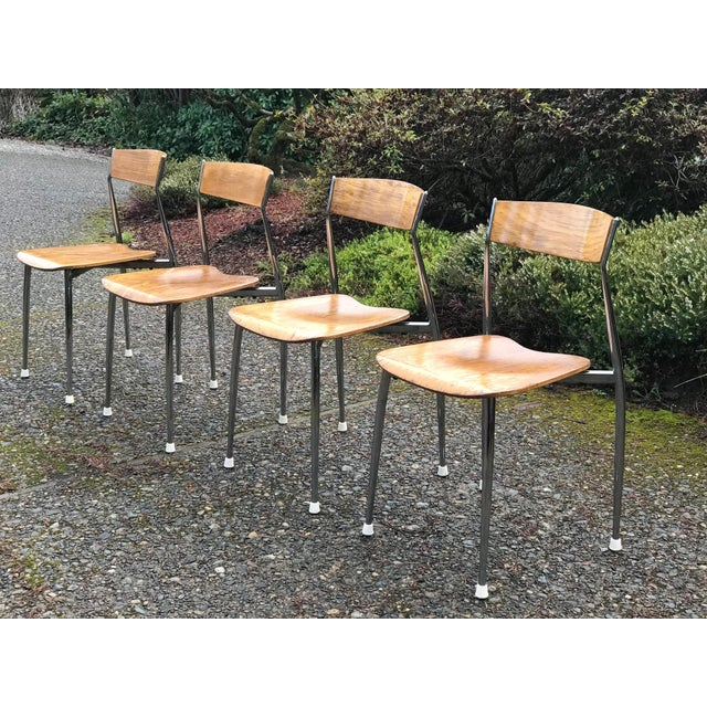 Bernhardt Mid-Century Chrome Dining Chairs - Set of 4 For Sale In Seattle - Image 6 of 6