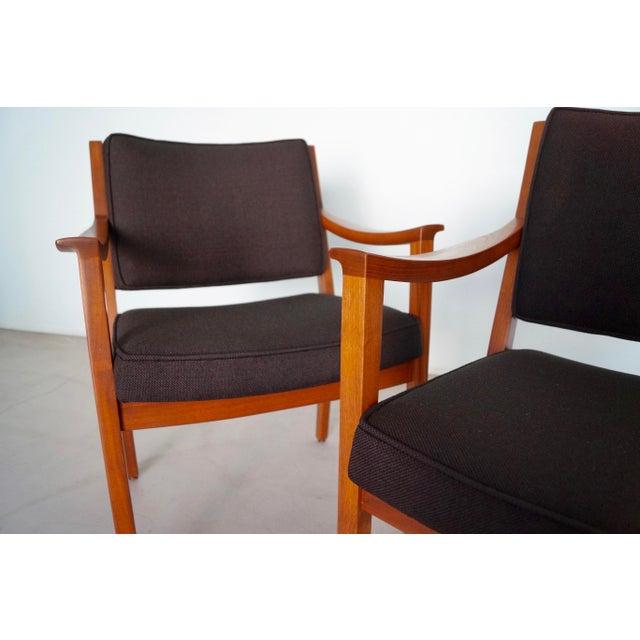 Gunlocke Mid-Century Modern Walnut Armchairs - A Pair For Sale - Image 11 of 13