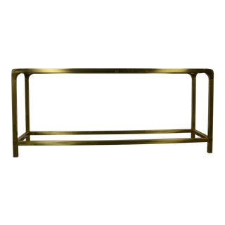 1970s Hollywood Regency Mastercraft Console Table For Sale