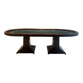 Custom Poker Table by Blatt Billiards For Sale
