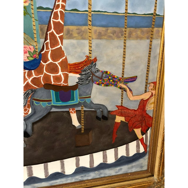 Contemporary Carousel Painting and Collage For Sale - Image 4 of 11