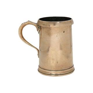 1920s George V Rose Brass Quart Tankard For Sale