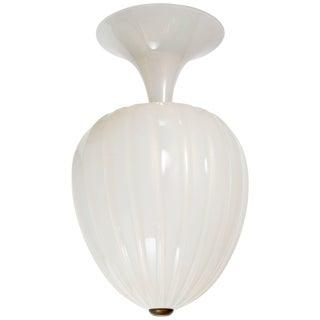 1940s Seguso Murano Large Teardrop Light Fixture For Sale