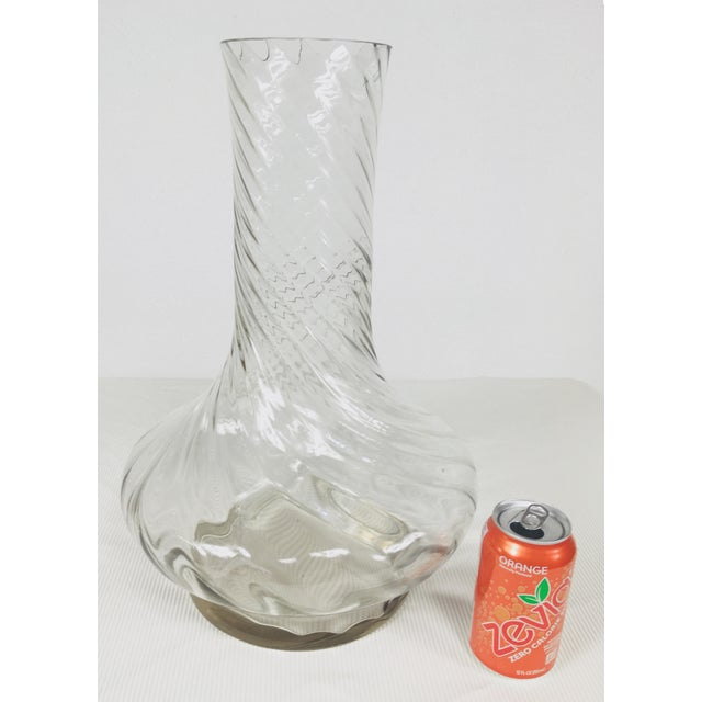 1980s Traditional Handblown Monumental Glass Vase For Sale In Philadelphia - Image 6 of 7