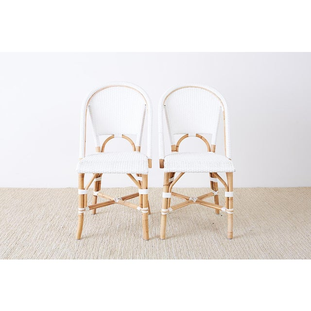 Serena and Lily Bamboo Riviera Rattan French Bistro Chairs For Sale - Image 13 of 13