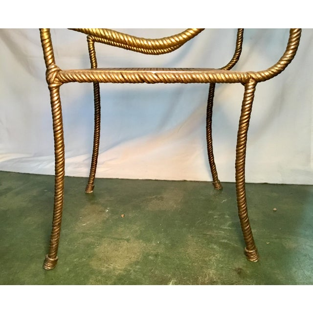 Gilt Metal Chairs - Set of 6 For Sale - Image 9 of 13