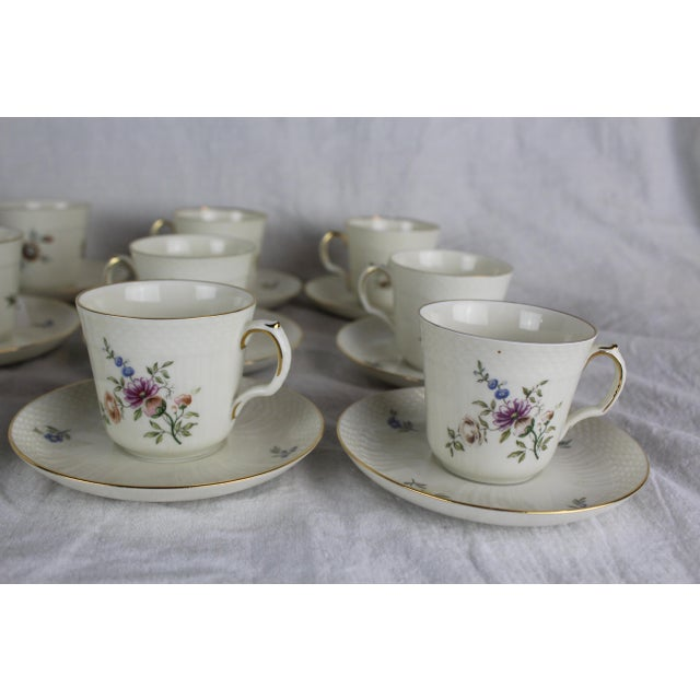Royal Copenhagen Royal Copenhagen Cups & Saucers - Service for 12 For Sale - Image 4 of 8