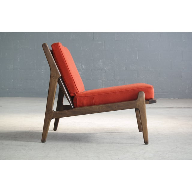 Beech Ib Kofod-Larsen Lounge or Slipper Chair Danish Midcentury For Sale - Image 7 of 11