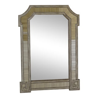 Baker Venetian Style Smoked Glass Decorator Mirror For Sale