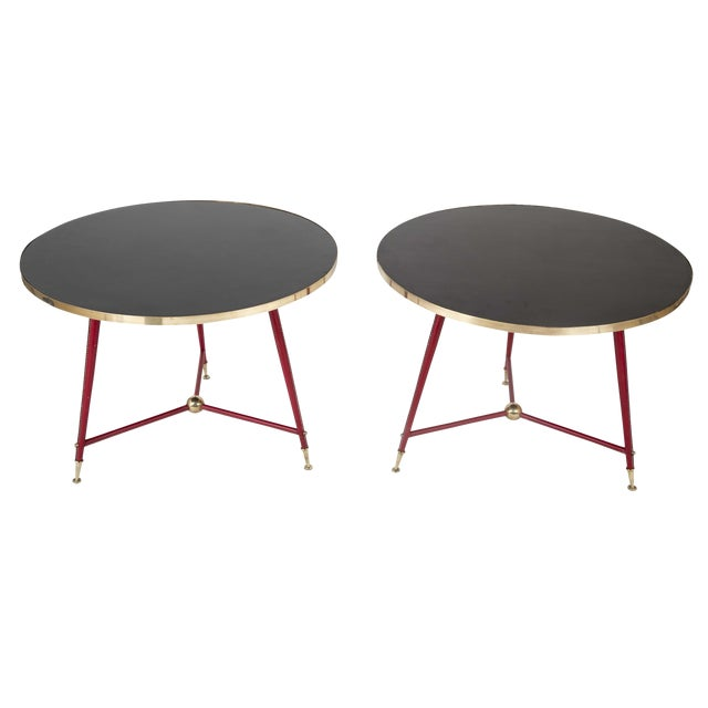 Pair Of Jules Leleu Side Tables For Sale