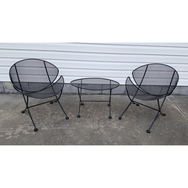"1960s Vintage Tempestini for Salterini Patio Garden ""Clamshell"" ""Orange Slice"" Chair For Sale - Image 12 of 13"