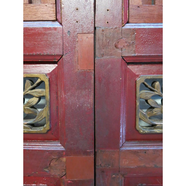 Antique Chinese Hand Carved Wooden Doors - a Pair For Sale - Image 9 of 11