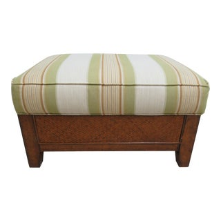 Thomasville Tommy Bahama Style Wicker Lounge Chair Ottoman Foot Stool