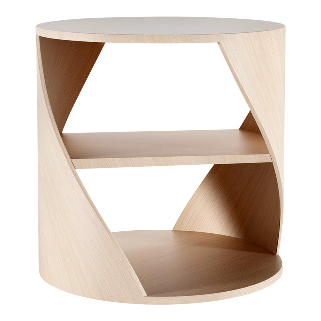 Mydna Oak Decorative Side Table by Joel Escalona For Sale