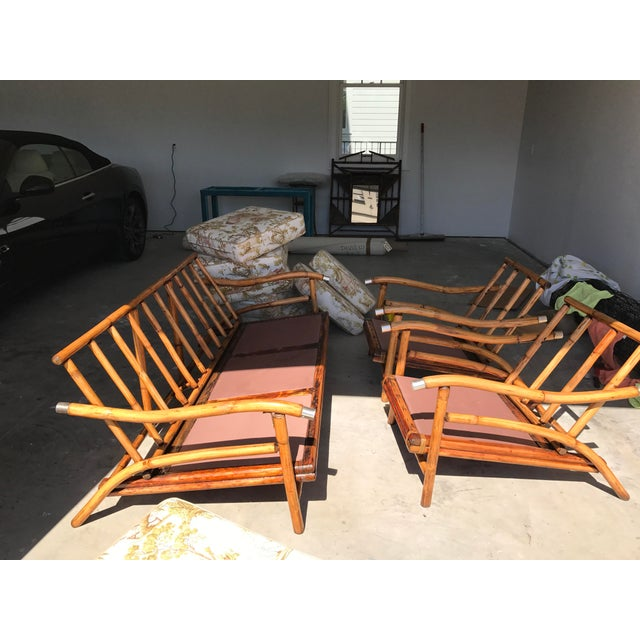 Bamboo Sofa & Chairs - Set of 3 - Image 3 of 7