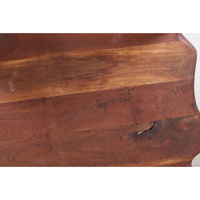 One of a Kind James Monroe Camp Studio Coffee Table in Walnut, Usa, 1975 For Sale - Image 9 of 12