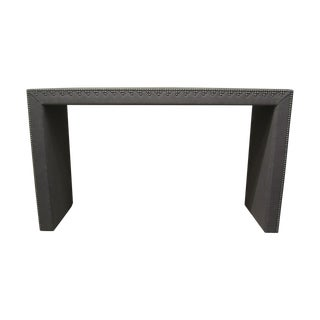 Grey Console Table With Nailhead Embellishments