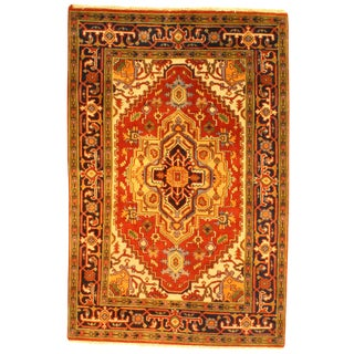 """Pasargad Ny Serapi Hand-Knotted Rug - 4' X 6'1"""" For Sale"""
