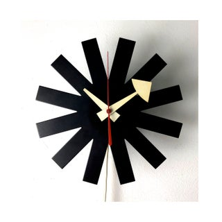 Vintage George Nelson Howard Miller Black Asterisk Clock 1950's