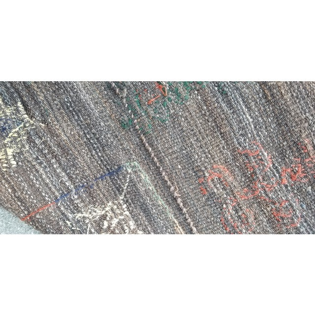 """Hand Woven Hand Embroidered Wool Rug-5'6'x6'8"""" For Sale In Los Angeles - Image 6 of 7"""