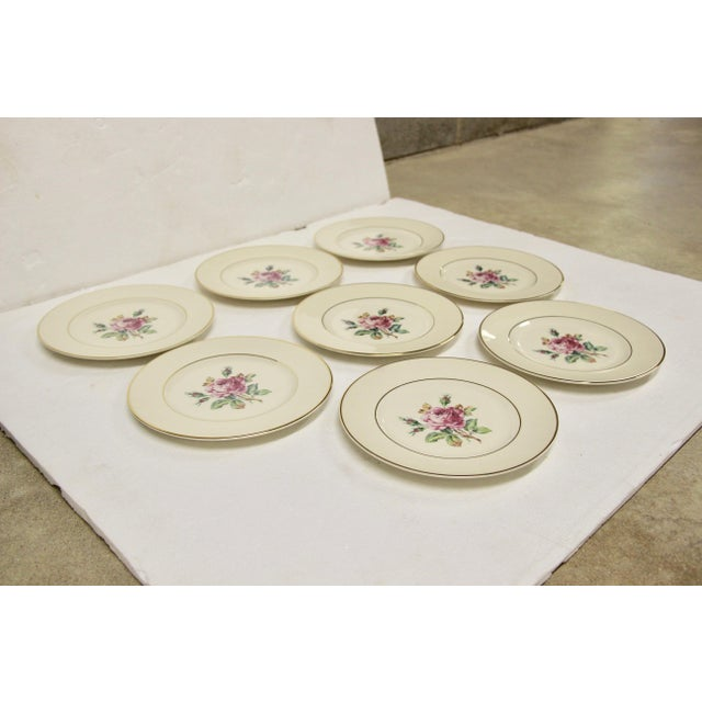 Garden Rose China Plates, S/8 For Sale - Image 4 of 8