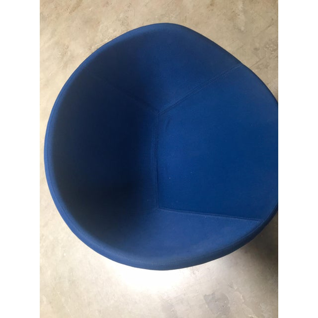 Blue Avalon by Swedese Blue Circular Swivel Chairs - a Pair For Sale - Image 8 of 10
