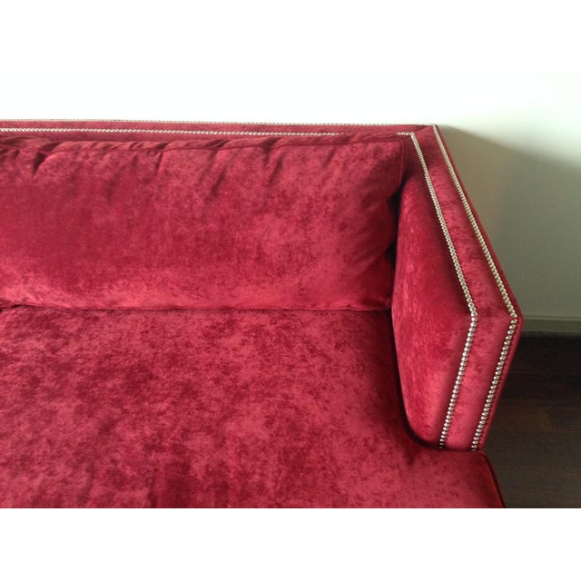 "Mitchell Gold + Bob Williams Mitchell Gold 94"" Keaton Sofa in Eller-Crimson For Sale - Image 4 of 6"