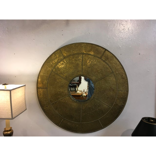 Sarreid Hammered Brass Mirror For Sale In Atlanta - Image 6 of 10