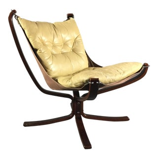 "Sigurd Ressell Yellow ""Falcon"" Low Back Lounge Chair, 1970s For Sale"