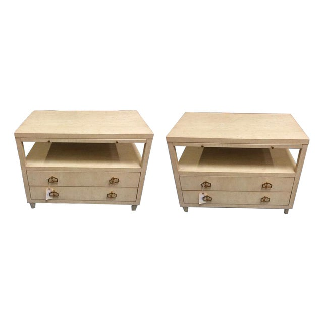Wood Asian Modern Bedside Tables - a Pair For Sale - Image 7 of 7