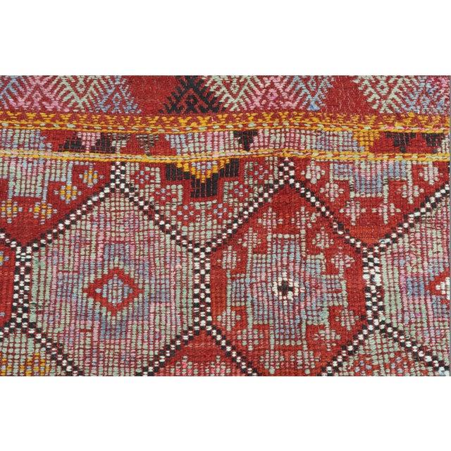 Vintage Turkish Fethiye Nomad's Flat Weave Rug For Sale - Image 9 of 12