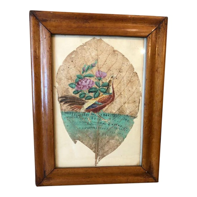 Mid 19th Century Tobacco Leaf Painting For Sale